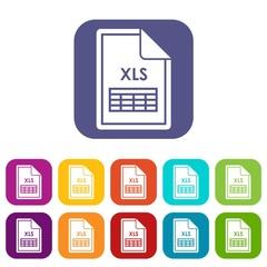 File XLS icons set
