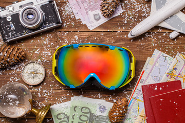 Photo of snow, snowboarder glasses