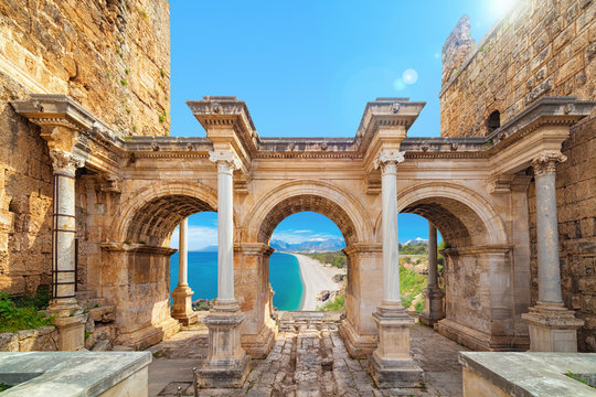Hadrian's Gate - entrance to Antalya, Turkey