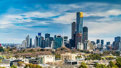 Melbourne city skyline, Victoria, Australia