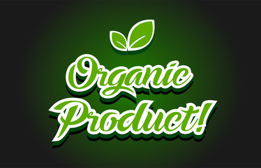 Organic product text logo icon design
