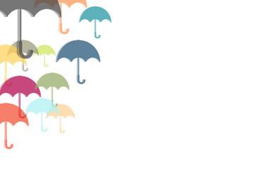 Hintergrund aus bunten Regenschirmen