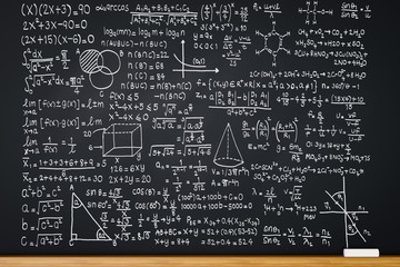 blackboard with math formula