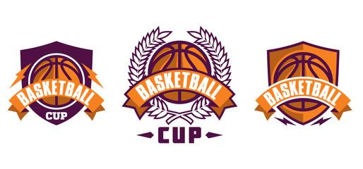 Set of basketball sport icons, logotypes or emblems