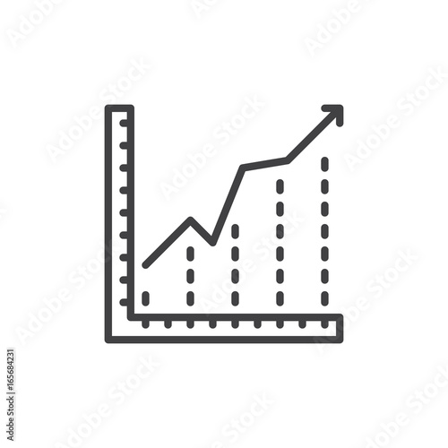 Growing chart line icon outline vector sign linear style pictogram growing chart line icon outline vector sign linear style pictogram isolated on white ccuart Image collections
