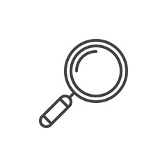 Loupe, search line icon, outline vector sign, linear style pictogram isolated on white. Symbol, logo illustration. Editable stroke. Pixel perfect vector graphics - fototapety na wymiar