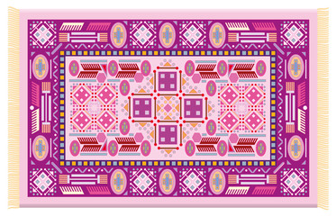 Pink carpet - isolated vector illustration on white background.