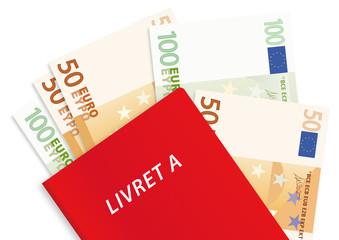 livret A - épargne - banque - économie - symbole - économiser - billet de banque