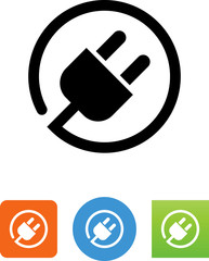 Electrical Plug With Cord Icon - Illustration