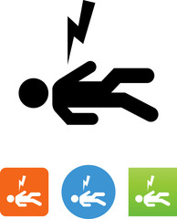 Electrocution Icon - Illustration