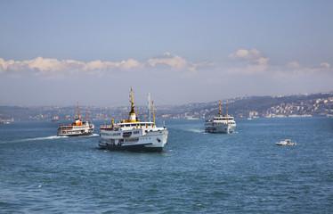 Bosphorus strait in Istanbul. Turkey