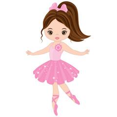 Vector Cute Little Ballerina Dancing