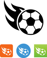 Flaming Soccer Ball Icon