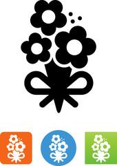 Floral Bouquet Icon - Illustration