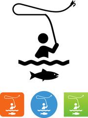 Fly Fishing Icon - Illustration