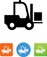 Forklift With Goods Icon - Illustration
