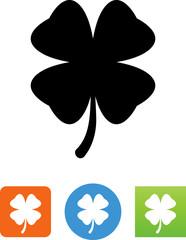 Four Leaf Clover Icon - Illustration