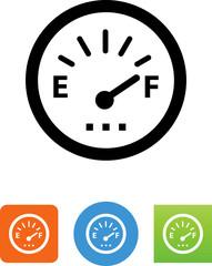 Fuel Gauge Icon - Illustration