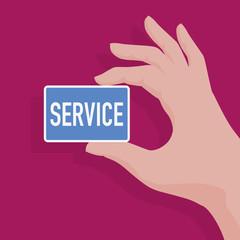 service - service à la personne - présentation -  carte de visite - main