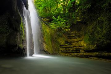 Erfelek waterfall in Sinop,Turkey.Long Exposure Photography style.