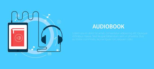 Online audiobook banner