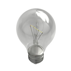3D realistic render of bulb isolated on white background
