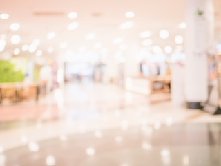 Abstract blur beautiful luxury interior shopping mall background.