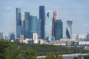 Panoramic view of modern part of Moscow, capital of Russia