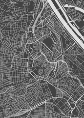 Vienna city plan, detailed vector map