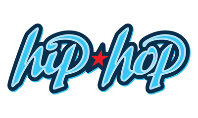 Hip-Hop Lettering. Design element