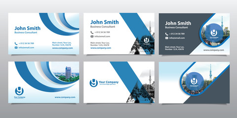 City Background Business Card Design Template Set. Can be adapt to Brochure, Annual Report, Magazine,Poster, Corporate Presentation, Portfolio, Flyer, Website