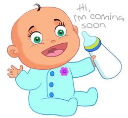Newborn baby announcing