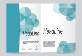 Blue Cover template background, flyer design.