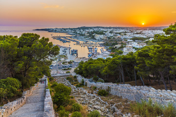 Wall Mural - Panoramic view of Santa Maria di Leuca city, Salento, Puglia. Italy.