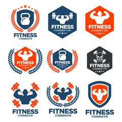 Fitness Logo Set