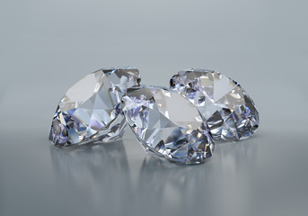 Three large diamonds