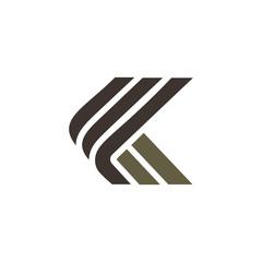 letter k luxury logo design concept template