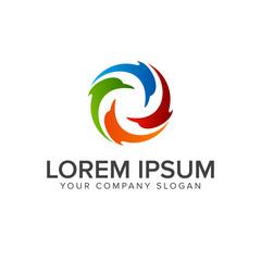 dolphin logo design concept template
