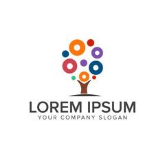 Tree circle Logos. art and Design, Entertainment logo design concept template