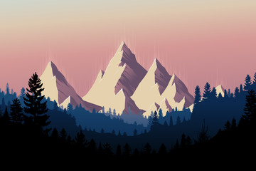 Mountain Range Landscape