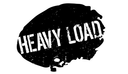 Heavy Load rubber stamp. Grunge design with dust scratches. Effects can be easily removed for a clean, crisp look. Color is easily changed.