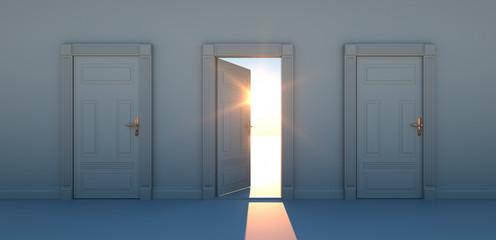 3 Türen zur Wahl - Konzept Zukunft