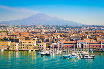 Fototapete - Catania Sicily, Italy