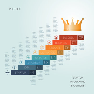 Vector template startup success  for eight positions