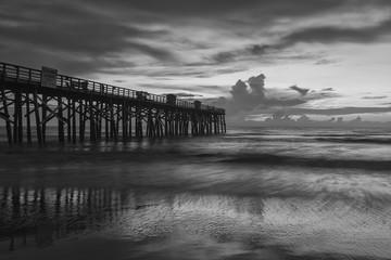 B&W of Flagler Beach pier.