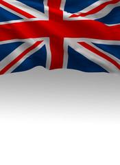 United Kingdom Background, English 3D Flag, UK (3D Render)