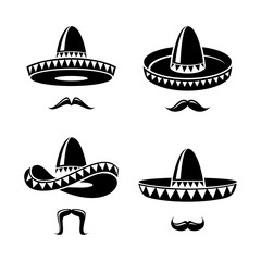 Sombrero set. Vector