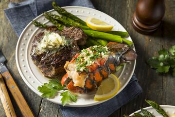 Wall Mural - Homemade Steak and Lobster Surf n Turf