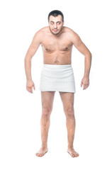Funny man standing