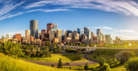 Wall Mural - City skyline of Calgary, Canada